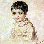 Karl Pavlovich Bryullov - Portrait MP Kikino in childhood. 1817-1820