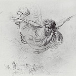 Karl Pavlovich Bryullov - Flying Angel, mourning the victims of the Inquisition. 1849-1850