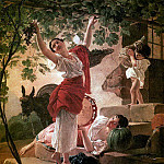 Karl Pavlovich Bryullov - Girl, gather the grapes in the vicinity of Naples. 1827