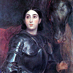 Portrait of Juliet Titton in armor. 1850-1852, Karl Pavlovich Bryullov