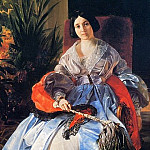 Portrait of the Most Serene Princess Elizabeth Saltykov. 1841, Karl Pavlovich Bryullov