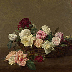 Ignace Henri-Theodore Fantin-Latour – A Basket of Roses, Part 3 National Gallery UK