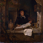 An Old Woman with a Book, Gabriel Metsu