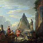 Giovanni Paolo Panini – Roman Ruins with Figures, Part 3 National Gallery UK