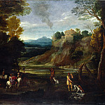Giovanni Battista Viola – Landscape with a Hunting Party, Part 3 National Gallery UK