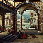 Hendrick van Steenwyck the Younger – The Courtyard of a Renaissance Palace, Part 3 National Gallery UK