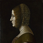 Giovanni Ambrogio de Predis – Profile Portrait of a Lady, Part 3 National Gallery UK