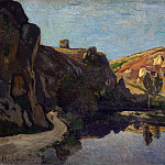 Henri-Joseph Harpignies – River and Hills, Part 3 National Gallery UK