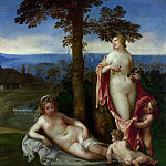 Part 3 National Gallery UK - Imitator of Giorgione - Nymphs and Children in a Landscape with Shepherds