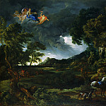 Gaspard Dughet and Carlo Maratta – Landscape with the Union of Dido and Aeneas, Part 3 National Gallery UK