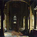 Imitator of Hendrick van Steenwyck the Younger – Interior of a Church at Night, Part 3 National Gallery UK