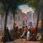 Part 3 National Gallery UK - Gabriel-Jacques de Saint-Aubin - A Street Show in Paris