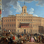 Giovanni Paolo Panini – The Lottery in Piazza di Montecitorio, Part 3 National Gallery UK