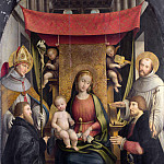 Gerolamo Giovenone – The Virgin and Child with Saints and Donors, Part 3 National Gallery UK