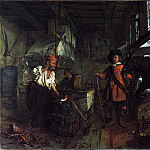 Gabriel Metsu – The Interior of a Smithy, Part 3 National Gallery UK