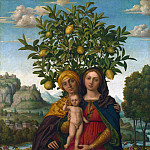 Gerolamo dai Libri – The Virgin and Child with Saint Anne, Part 3 National Gallery UK