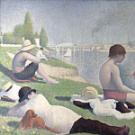 Part 3 National Gallery UK - Georges Seurat - Bathers at Asnieres