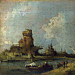 Imitator of Francesco Guardi – A Ruin Caprice, Part 3 National Gallery UK