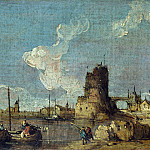 Part 3 National Gallery UK - Imitator of Francesco Guardi - A Ruin Caprice