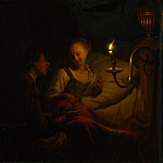 Godfried Schalcken – A Man Offering Gold and Coins to a Girl, Part 3 National Gallery UK