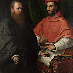 Girolamo da Carpi – Cardinal Ippolito de Medici and Monsignor Mario Bracci, Part 3 National Gallery UK