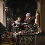 Gerrit Dou – A Poulterers Shop, Part 3 National Gallery UK