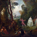 Imitator of Jean-Baptiste Pater – The Dance, Part 3 National Gallery UK