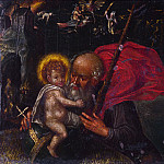 German – Saint Christopher carrying the Infant Christ, Part 3 National Gallery UK