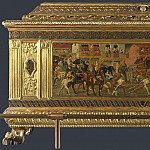 Italian, Florentine – Cassone with a Tournament Scene, Part 3 National Gallery UK