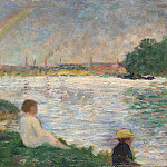 Georges Seurat – The Rainbow – Study for Bathers at Asnieres, Part 3 National Gallery UK