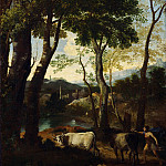 Gaspard Dughet – Landscape with a Cowherd, Part 3 National Gallery UK