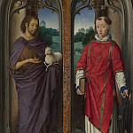 Two Panels from a Triptych, Hans Memling
