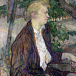 Henri de Toulouse-Lautrec – Woman seated in a Garden, Part 3 National Gallery UK