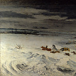 The Diligence in the Snow, Gustave Courbet