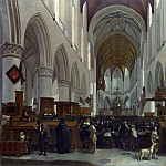 Gerrit Berckheyde – The Interior of the Grote Kerk, Haarlem, Part 3 National Gallery UK