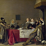 Hendrick Pot – A Merry Company at Table, Part 3 National Gallery UK