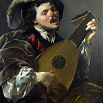 Hendrick ter Brugghen – A Man playing a Lute, Part 3 National Gallery UK