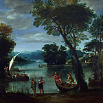 Giovanni Battista Viola – Landscape with a River and Boats, Part 3 National Gallery UK