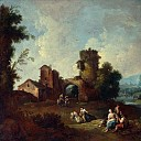 Giuseppe Zais – Landscape with a Ruined Tower, Part 3 National Gallery UK