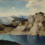 Imitator of Pieter Bruegel the Elder – Landscape – A River among Mountains, Part 3 National Gallery UK