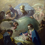The Nativity with God the Father and the Holy Ghost, Giovanni Battista Pittoni