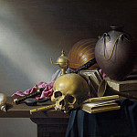 Harmen Steenwyck – Still Life – An Allegory of the Vanities of Human Life, Part 3 National Gallery UK