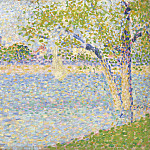 The Seine seen from La Grande Jatte, Georges Seurat