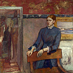 Part 3 National Gallery UK - Hilaire Germain-Edgar Degas - Helene Rouart in her Fathers Study