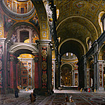 Giovanni Paolo Panini – Rome – The Interior of St Peters, Part 3 National Gallery UK