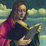 Girolamo da Santacroce – A Youthful Saint Reading, Part 3 National Gallery UK