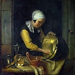 Godfried Schalcken – An Old Woman scouring a Pot, Part 3 National Gallery UK