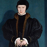 Hans Holbein the Younger – Christina of Denmark, Duchess of Milan, Part 3 National Gallery UK