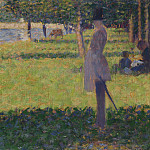 Georges Seurat – Study for La Grande Jatte, Part 3 National Gallery UK