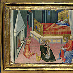 Giovanni di Paolo – The Birth of Saint John the Baptist – Predella Panel, Part 3 National Gallery UK